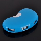 USB 2.0 4-Port Hub - Blue + White (80cm-Kabel)