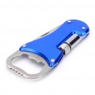 3-in-1 Knife + Flashlight + Bottle Opener Set - Blue + Silver