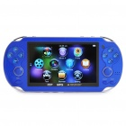 "4,3 ""LCD Portable Game Console Media Player w / Kamera / FM / TV-Out / TF - Blau (4GB)"