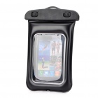 Universal Waterproof Bag Case with Strap for Cell Phone - Black