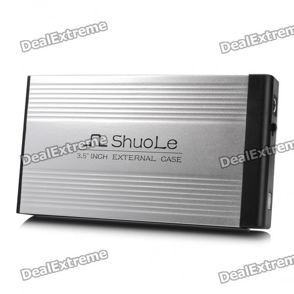 "USB 2.0 3.5"" SATA/IDE HDD External Case Enclosure - Silver"