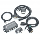 DVI audio del juego interruptor GameSwitch para PS3 / Xbox 360 (Negro)