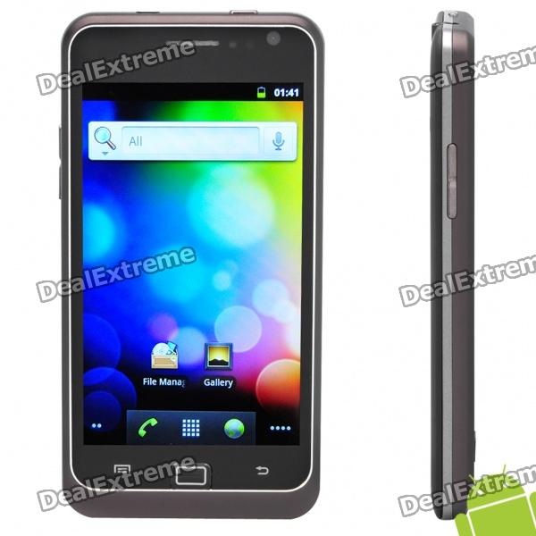 9100 4.1 Capacitive Screen Android 2.3 Dual SIM 3G WCDMA Smartphone w/ Wi-Fi + GPS - Black hummer h5 3g smartphone 4 0 capacitive screen mtk6572 dual core 1 3ghz 512mb 4gb dual sim card waterproof shockproof dustproof gps smart phone unlocked