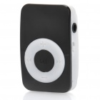 Mini Bread Style Rechargeable Screen-Free MP3 Player w/ 3.5mm Audio Jack / TF Slot - Black