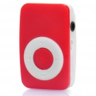 Mini Bread Style Rechargeable Screen-Free MP3 Player w/ 3.5mm Audio Jack / TF Slot - Red