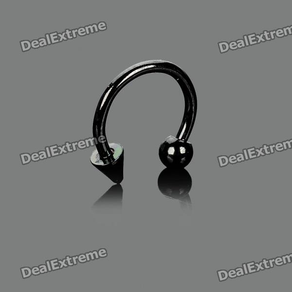 Multi-Use 316L Surgical Steel Ear Spike Stud - Black