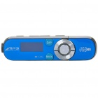 "Designer's 0.8"" LCD USB Rechargeable MP3 Player w/ FM / 3.5mm Jack - Blue + Black (2GB)"