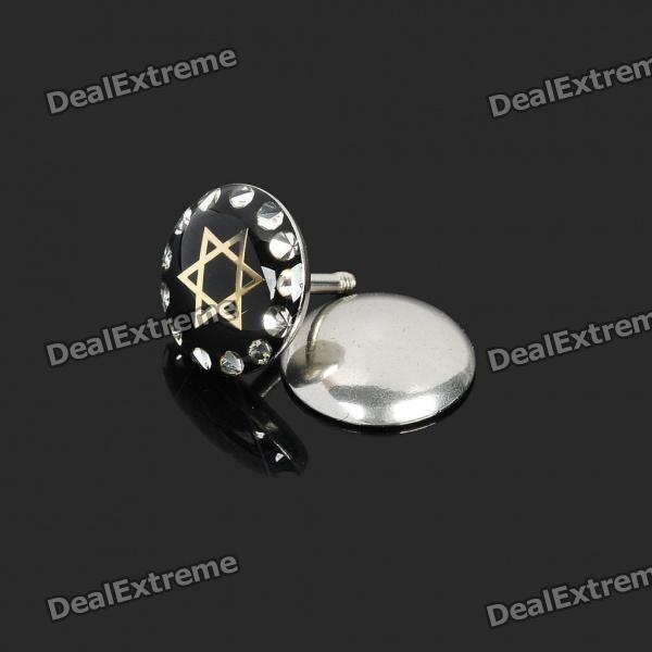 Stylish 316L Surgical Steel Ear Piercing Barbell Bar Stud - Silver + Black