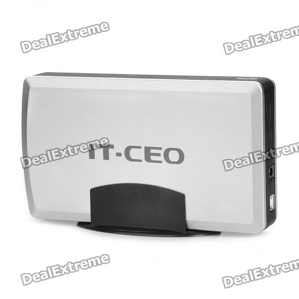 "USB 2.0 3.5"" SATA/IDE External Hard Drive HDD Enclosure - Silver"