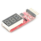 Digital Multi-cell Lithium Battery Voltage LED Display for R/C Models