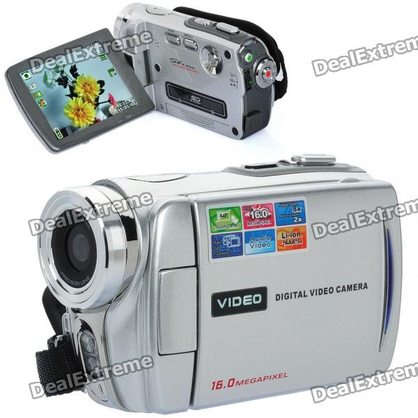 """5.0MP CMOS Digital Video Camcorder w / 8X Digital Zoom/2-LED/AV-Out/Dual-SD Slot (3,0 """"Touch Screen)"""