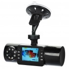 "Dual Lens Wide Angle Car DVR Camcorder w/ IR Night Vision / TF (2.0"" TFT)"