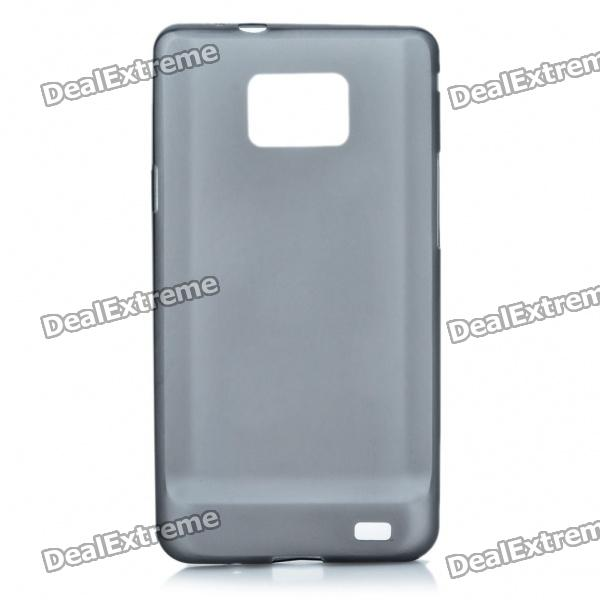 Protective PS Plastic Case for Samsung i9100 Galaxy S2 - Translucent Black