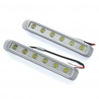 White 6W 8000K 450-Lumen Daytime Running Lamp/Lights for Car (9~28V / Pair)