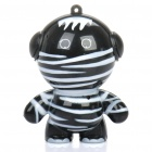 Mini Rechargeable Black Zebra Man Style Music Speaker - Black