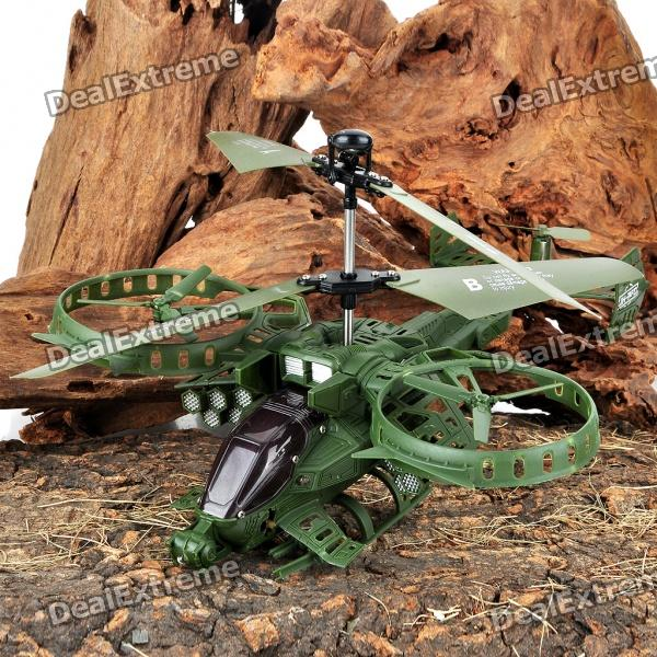 3.5-Channel Mini R/C Avatar Rechargeable Helicopter - Army Green
