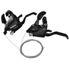 SHIMANO 3 x 7 21 Speed Mountain Shifters Kit - Black (Pair)