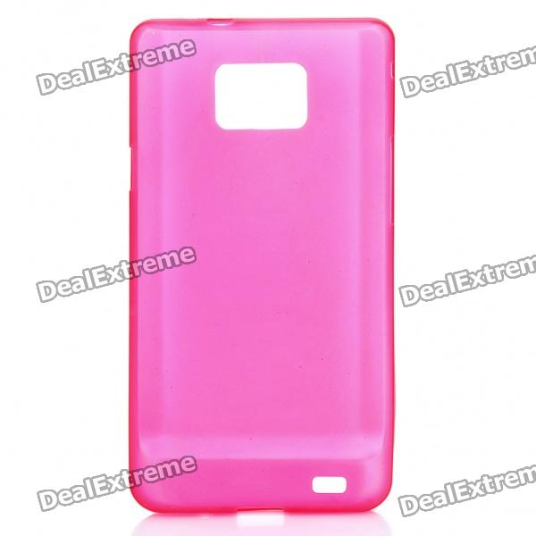 Protective PS Plastic Case for Samsung i9100 Galaxy S2 - Translucent Red