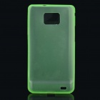 Protective PS Plastic Case for Samsung i9100 Galaxy S2 - Translucent Green