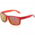 Fashion UV Protection Polaroid Resin Lens Sunglasses - Transparent Red Frame