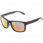 Fashion UV Protection Polaroid Resin Lens Sunglasses - Matte Black Frame