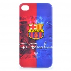 Cool FC Football Club Logo Protective Back Case for iPhone 4 / 4S - Barcelona