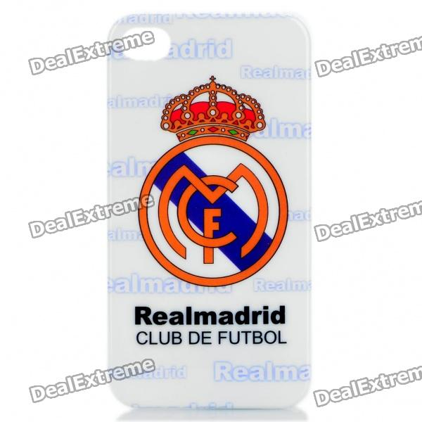 Cool FC Football Club Logo Protective Back Case for iPhone 4 / 4S  - Real Madrid (White)