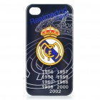 Cool FC Football Club Logo Protective Back Case for iPhone 4 / 4S  - Real Madrid (Black)