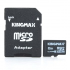 Genuine Kingmax Micro SDHC Card with SD Card Adapter (32GB/Class 10)