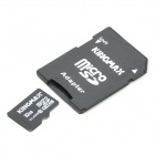 Kingmax Micro SDHC Card with SD Card Adapter - Black (32GB / Class 10)