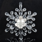 Multicolored Crystal Snow Flower LED Lamp w/ Suction Cup (2 x CR2032)