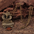 Owl Style Pendant Necklace - Bronze (64CM - Length)