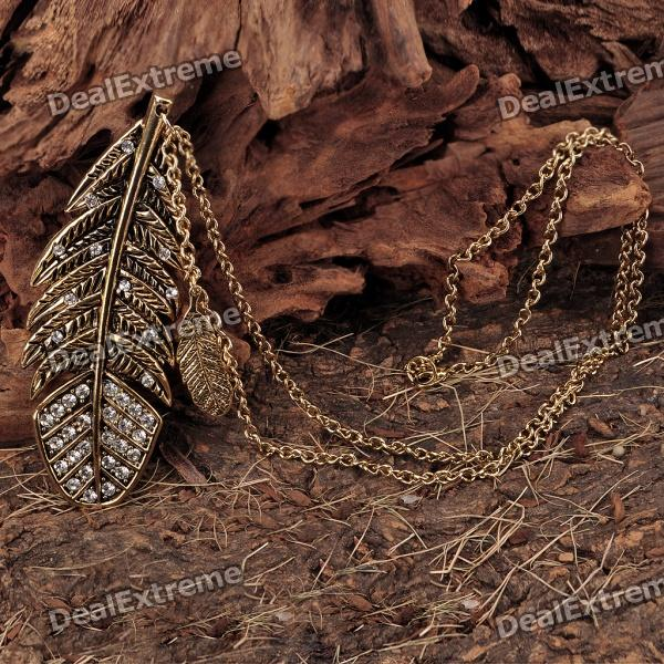 Leaf Style Pendant Necklace - Golden (64cm - Length) от DX.com INT