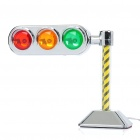 Car Cigarette Lighter Powered Decorative 3-LED Red/Yellow/Green Light (DC 12V)