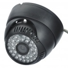 P2P 300KP CMOS Network Surveillance ID Camera w/ 48-LED IR Night Vision - Black