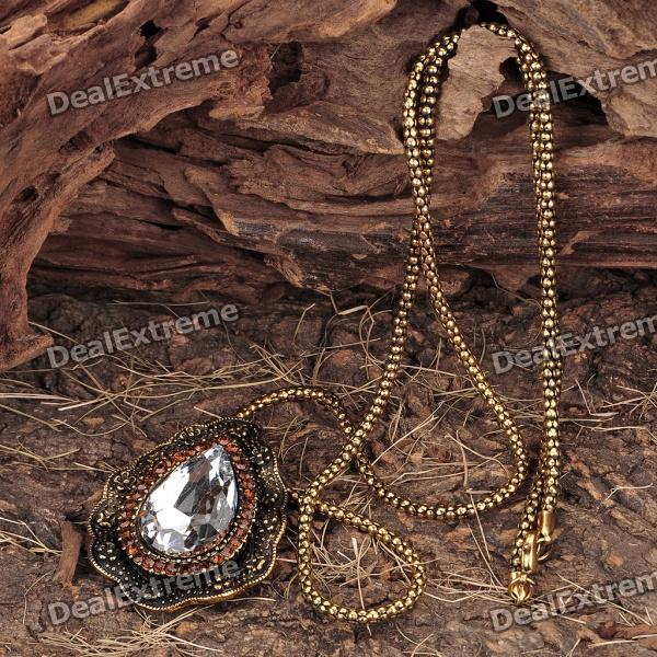 Crystal Pendant Necklace (75CM - Length) the photographer s wife