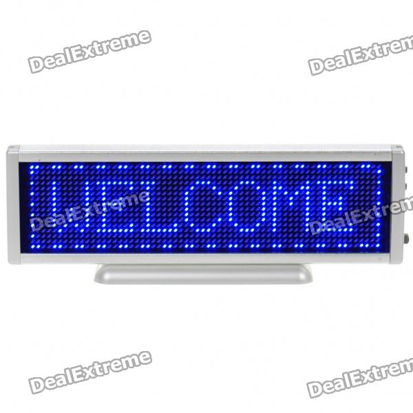 Rechargeable 16 x 64 LED Digital Desktop Display Board - Silver