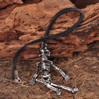 Skull Skeleton Pendant Necklace (46CM - Length)