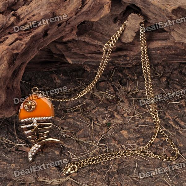 Fish Skeleton Style Pendant Necklace (64CM - Length) от DX.com INT