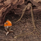 Fish Skeleton Style Pendant Necklace (64CM - Length)