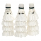 Sport Badminton Feather Shuttlecocks - White (12-Piece)