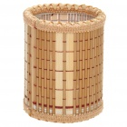 Stylish Bamboo Brush Pen Pot Holder - Wood Color