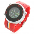 Fashionable Water Resistant Glow-in-dark Wrist Watch - Black +Red (1 x LR626)