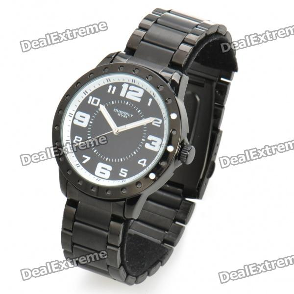 Fashionable Water Resistant Glow-in-dark Wrist Watch - Black + White (1 x LR626) the white guard