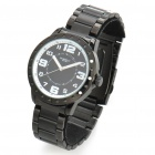 Fashionable Water Resistant Glow-in-dark Wrist Watch - Black + White (1 x LR626)