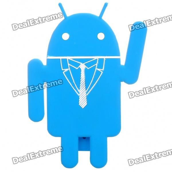 Cute Google Android Style Bendable Mobile Phone Holder Stand - Blue