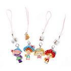 Cute Girls Cell Phone Charms with LED Activity Indicator (12-Pack)