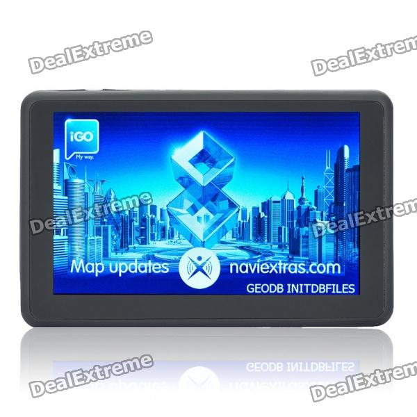 5 Touch Screen WinCE 6.0 GPS Navigator w/ FM / Bluetooth / Camera / AV-In - USA & Canada Map (4GB) beling g710a car gps navigation with av in 7 in touch screen wince 6 0 8gb vehicle navigator fm sat map mp4 sat nav automobiles