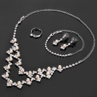 Elegant Necklace + Earrings + Ring + Bracelet Jewelry Set