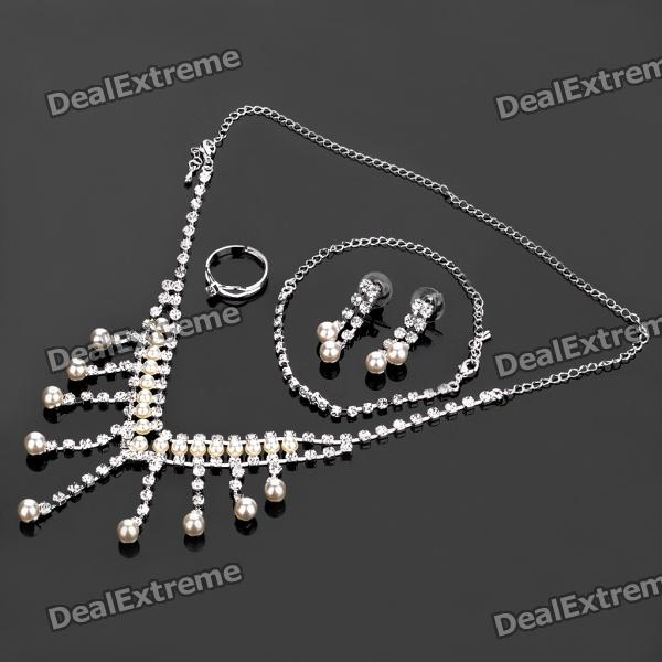 Elegant Necklace + Earrings + Ring + Bracelet Jewelry Set от DX.com INT